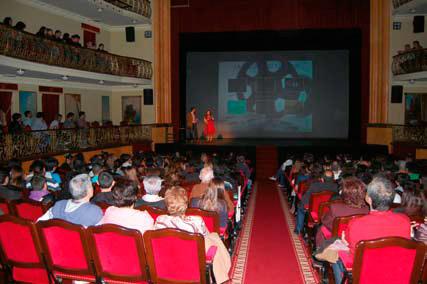 Ceremonia de entrega de premios en el Teatro Leal