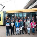Inauguración de la IV Leemos en el Tranvía/Foto: Tony Cuadado/ACAN
