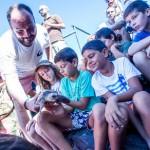 Suelta de tortugas en La Punta del Hidalgo/Tony Cuadrado Freelancer