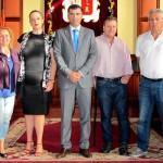 los realejosSubvenciones Bienestar Social Apaniste Milenio y AECC alcalde y concejala Olga 2015