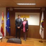 santiagoteide Emilio Navarro junto a la Secretaria de Estado de Turismo 2016