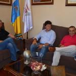 la orotava Antonio Marichal con alcalde y Juan Dóniz 2016