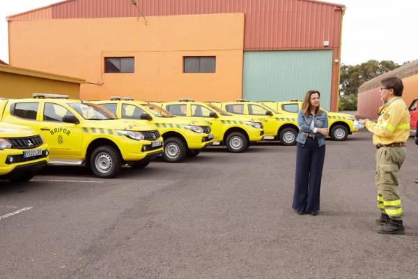 Nuevos vehículos 4x4 contra incendios destinados a la BRIFOR