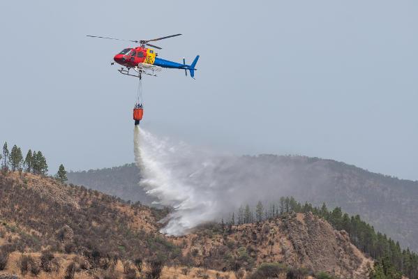 El segundo helicóptero contraincendios se incorpora para el verano
