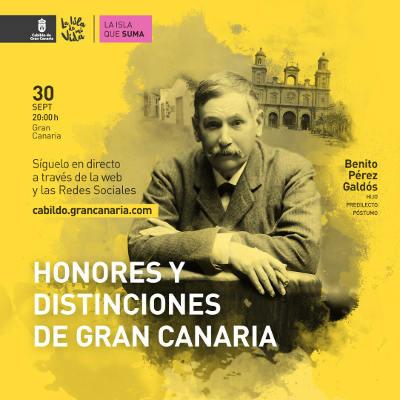 Entrega de Honores y Distinciones 2020 por el Cabildo de Gran Canaria