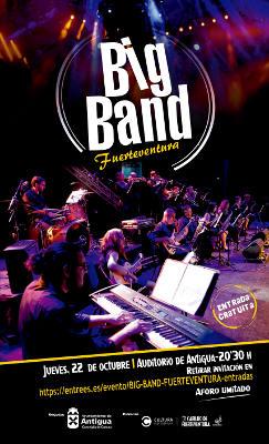 La Fuerteventura Big Band en concierto en el Auditorio de Antigua