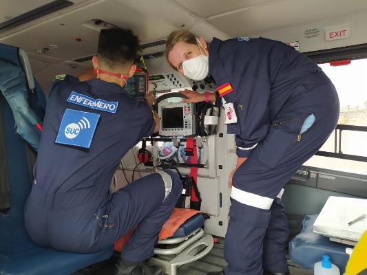 Helicópteros medicalizados del SUC. Servicio de urgencias de altos vuelos