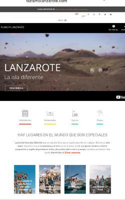 La web promocional de Turismo Lanzarote supera el millón de visitas