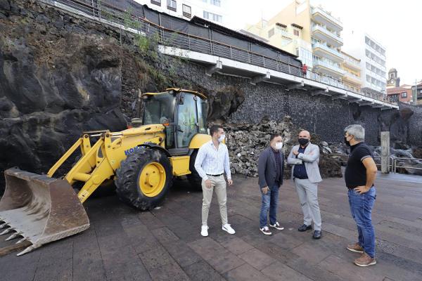 El kiosco de San Telmo en obras de remodelación para se más accesible