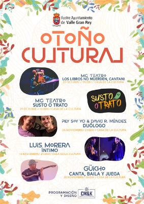 Otoño cultural programa de actividades culturales en Valle Gran Rey