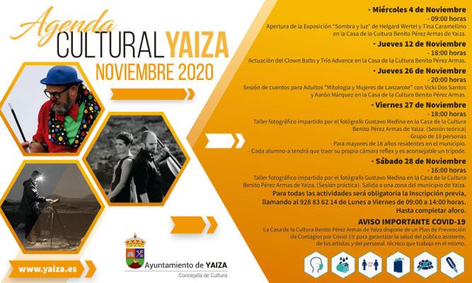 Agenda de espectáculos y actividades culturales de noviembre