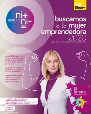 Mujer Emprendedora 2020 galardón homenaje de reconocimiento