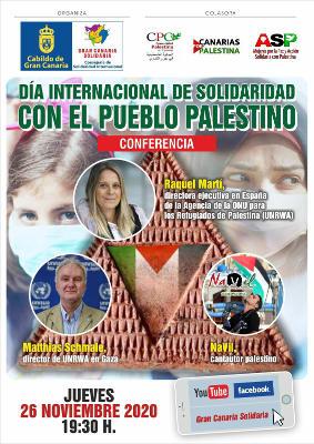 Día I. de Solidaridad con Pueblo Palestino con una conferencia