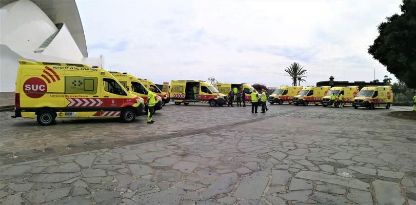 El servicio sanitario terrestre se refuerza con un aumento de ambulancvias