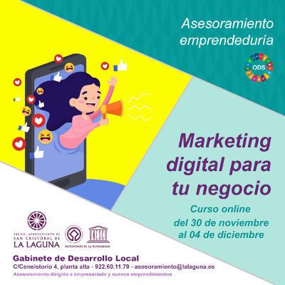 Marketing digital para apoyar a la emprendeduría con formación gratuita