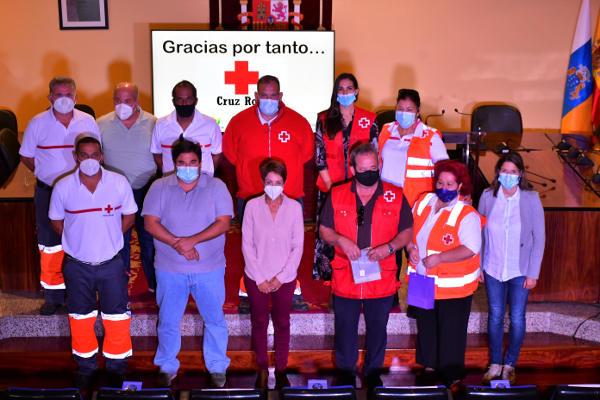 Reconocimiento a la labor de de Cruz Roja Española en Mogán