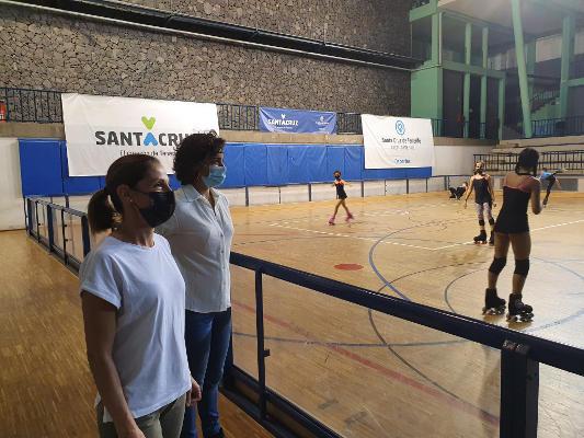 Club Patín Añazo, el Ayto. se interesa por las actividades que realiza