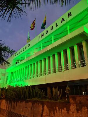 Día Mundial Contra el Cáncer, el Cabildo se iluminó de verde