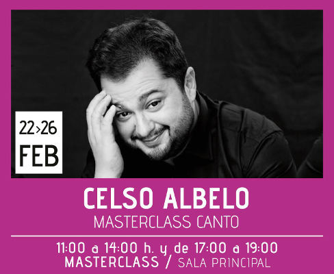Celso Albelo imparte clases magistrales de canto en el Teatro Leal