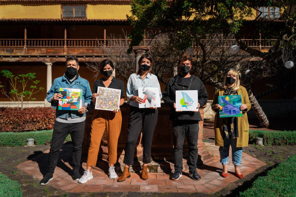 Cinco artistas tinerfeños redescubren rincones y barrios de La Laguna
