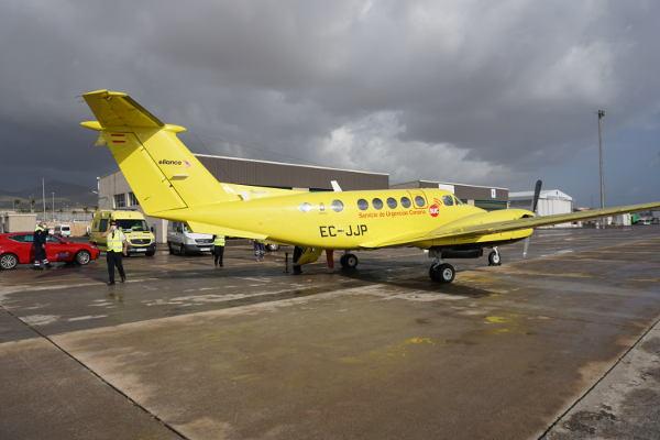 Avión medicalizado, recurso fundamental de apoyo a la red de urgencias