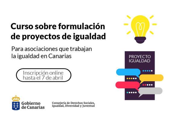 Formación gratuita a entidades de igualdad para elaboración de proyectos