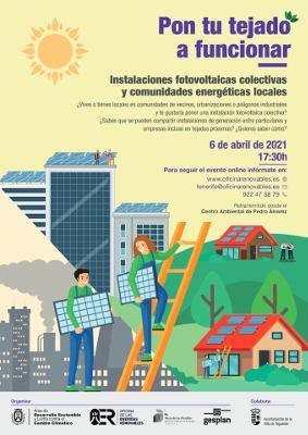 Pon tu tejado a funcionar, charla informativa de la oficina de renovables