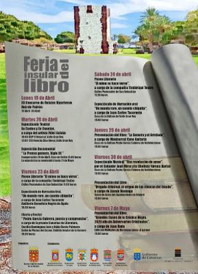El Día del Libro comienza el próximo 20 de abril en La Gomera