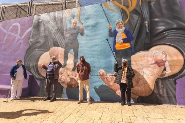 El CEVA Anchieta convierte sus paredes en un manifiesto ciudadano
