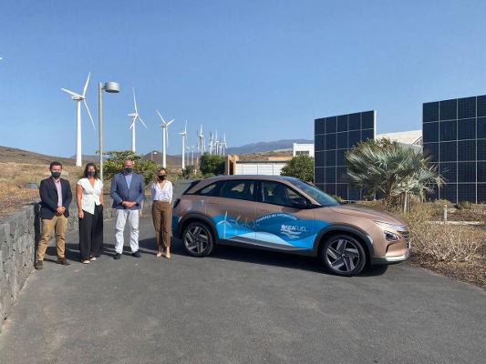 Vehículo de hidrógeno verde y primera hidrogenera de Canarias