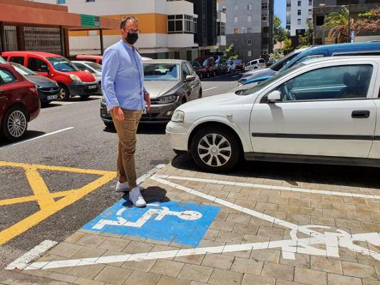 Mejora de las plazas de aparcamiento a personas con movilidad reducida