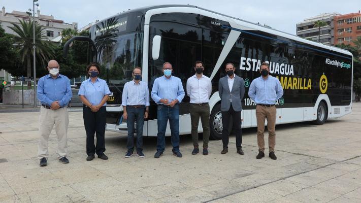 Vehículo 100% eléctrico cedido por MAN Canarias para la línea 44